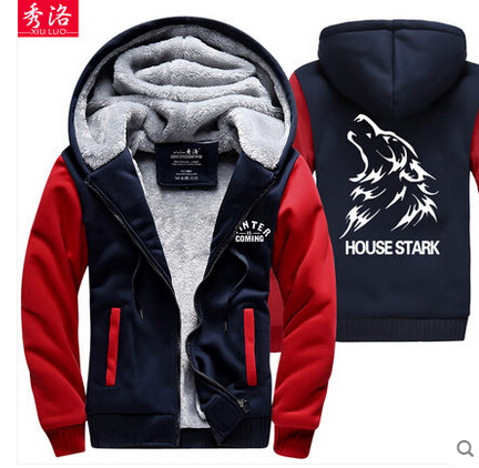 Game of Thrones, Wolf House, Stark, Thick Zip Up Hoodies