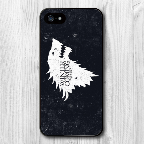 Game-Of-Thrones-House-Stark-Protective-Cover-Case-For-iPhone-5-5S-5C-4-4S-Free