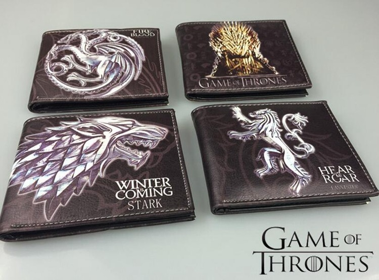 Game of Thrones Wallets, PVC Male Purse