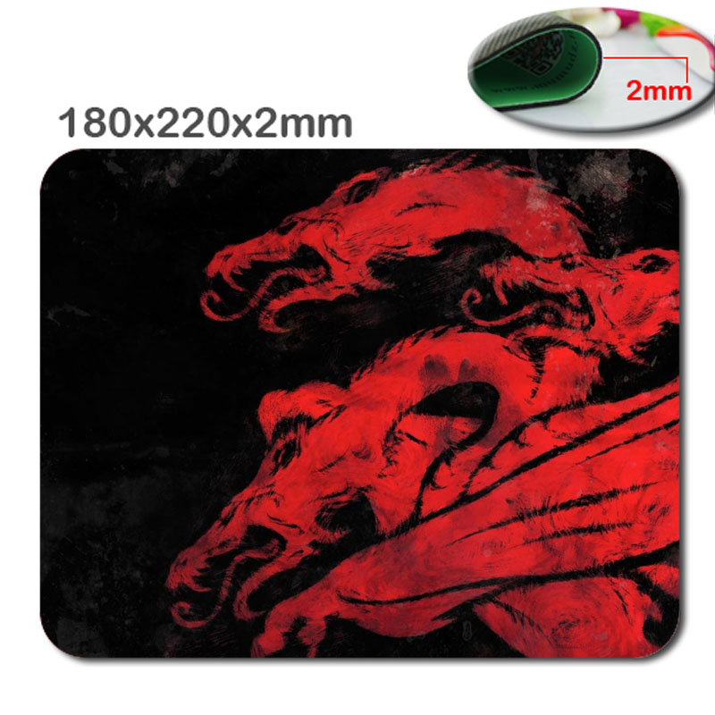 Fashion-Style-Textured-Surface-Water-Resistent-Mousepad-Game-Of-Thrones-House-Targaryen-Dragon-Red-in-220