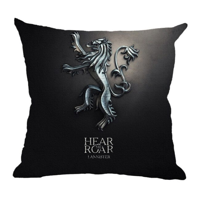 Game Of Thrones, Nine Family, Cotton Linen Cushion Covers 45*45cm Pillow Cases For Car Seat Sofa Chair