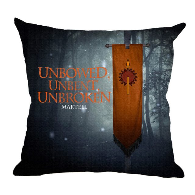 Game Of Thrones, Print Car Seat Cushion Covers, Nine Families, 45*45cm