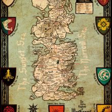 Game of Thrones Map Poster, Home Wall Decor