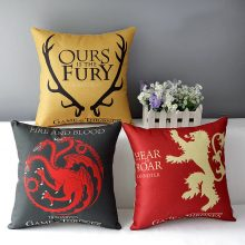 Game of Thrones, Cotton Linen Cushion, Home Decorative Throw Pillow