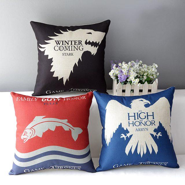 Game of Thrones, Cotton Linen Cushion, Home Decorative Throw Pillow