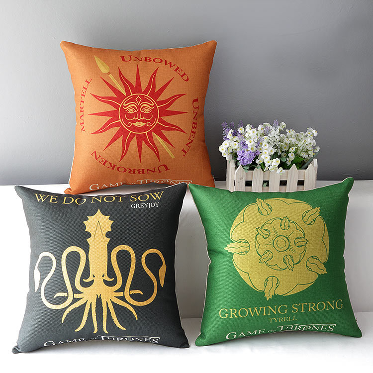 Cotton linen cushion home decorative throw pillow