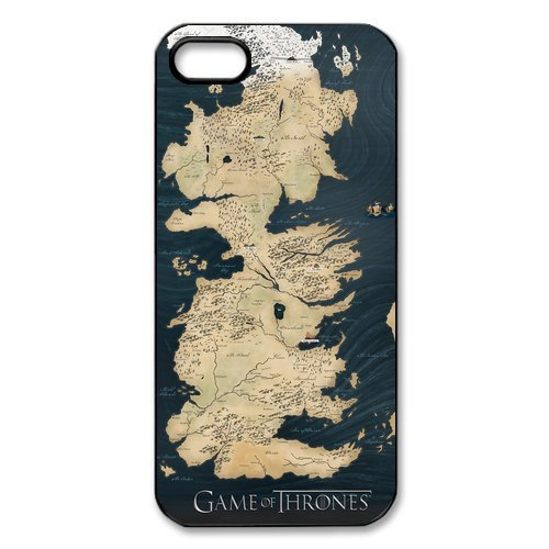 Game of Thrones, Westeros Map Case Cover for Iphone 4/4s/5/5s/5c