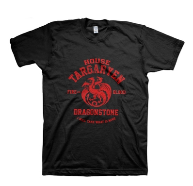Games of Thrones, A Song of Ice and Fire, House Targaryen T-Shirt