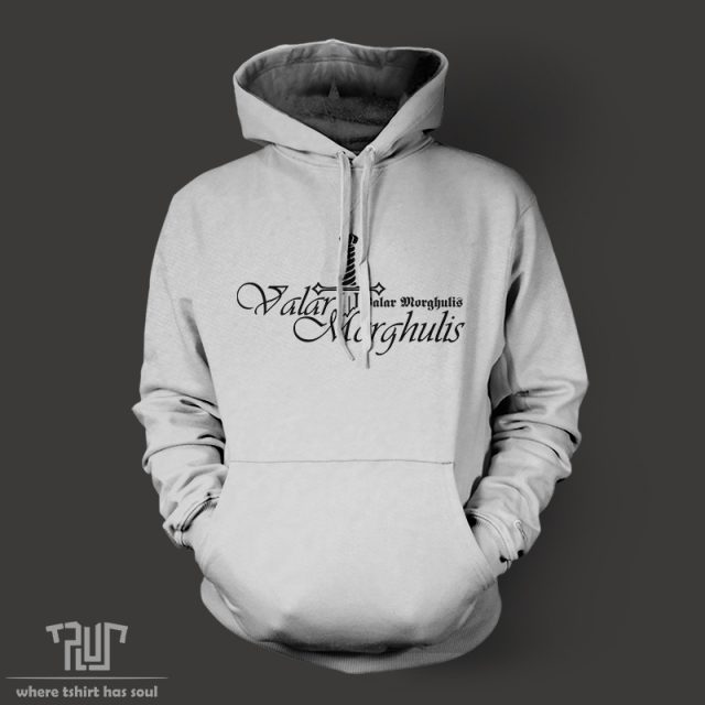 Game of thrones valar morghulis all men must die men unisex pullover hoodie 800g weight cotton with fleece inside Free Shipping