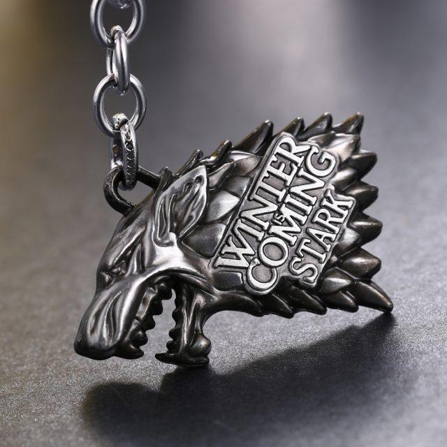 House Stark Metal Keychain