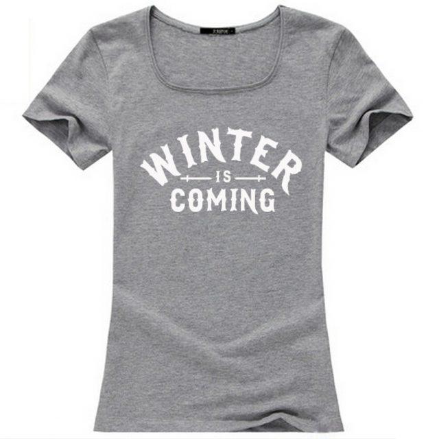 Winter is coming women t-shirt