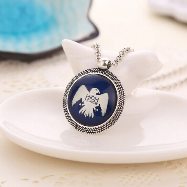 Game of Thrones, Coat of Arms, Familial Badge, Lannister, Targaryen, Stark, Baratheon, Arryn, Greyjoy Heraldic Necklace